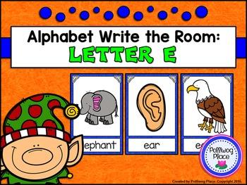 Alphabet Write the Room: Letter E