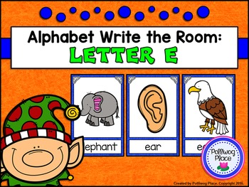 Alphabet Write the Room: Letter E