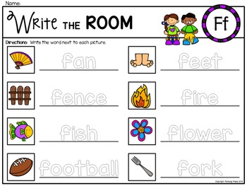 Alphabet Write the Room: Letter F