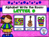 Alphabet Write the Room: Letter G