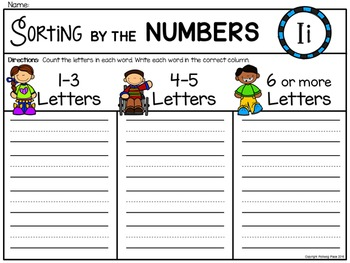 Alphabet Write the Room: Letter I