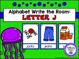 Alphabet Write the Room: Letter J
