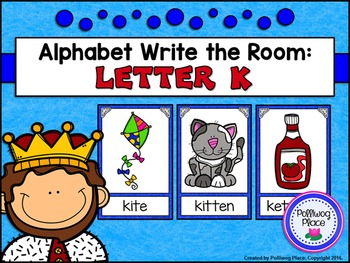 Alphabet Write the Room: Letter K