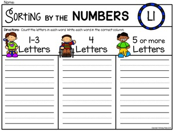 Alphabet Write the Room: Letter L
