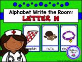 Alphabet Write the Room: Letter N