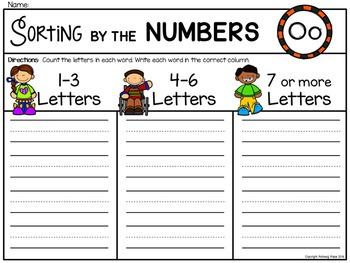 Alphabet Write the Room: Letter O