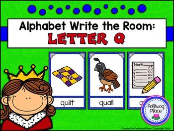 Alphabet Write the Room: Letter Q