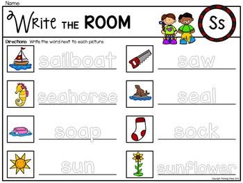 Alphabet Write the Room: Letter S