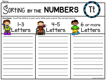 Alphabet Write the Room: Letter T