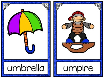 Alphabet Write the Room: Letter U