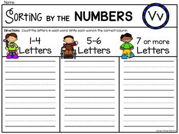 Alphabet Write the Room: Letter V