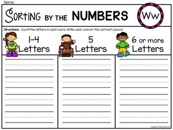 Alphabet Write the Room: Letter W