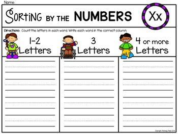 Alphabet Write the Room: Letter X