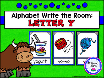 Alphabet Write the Room: Letter Y