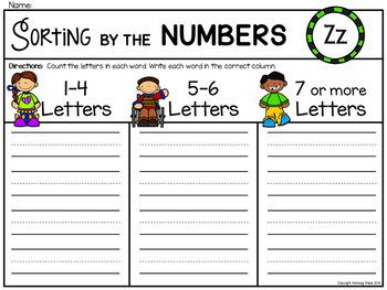 Alphabet Write the Room: Letter Z
