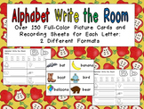 Alphabet Write the Room- Preschool or Kindergarten