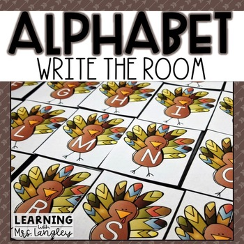 Alphabet Write the Room Thanksgiving Turkeys