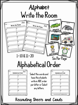Alphabet Write the Room and Alphabetical Order