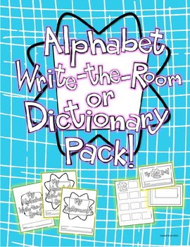 Alphabet Write the Room and Dictionary Pack with mini book