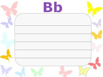 Alphabet cards - Butterflies
