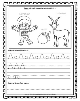 Alphabet Writing Activities Worksheets (Upper & Lower Case) No Prep