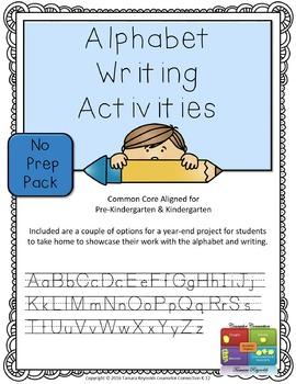 Alphabet Writing Activities Worksheets (Upper & Lower Case