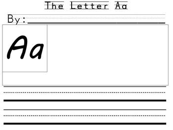 Alphabet Writing Book