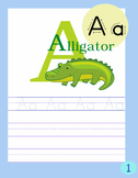 Alphabet Writing Book Freebie
