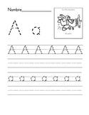 Alphabet Writing Book-Spanish