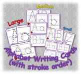 Alphabet Writing Cards Bundle (with stroke order)