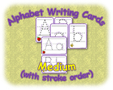 Alphabet Writing Cards Medium (with stroke order)