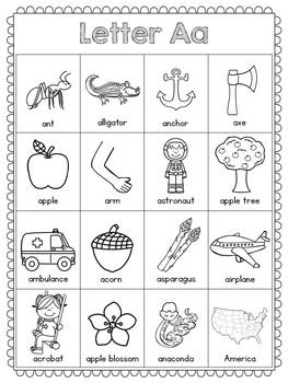 Alphabet Writing Charts