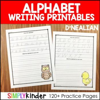 Alphabet Writing - D'Nealian