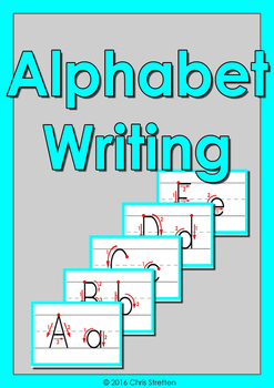 Alphabet Writing Flashcards