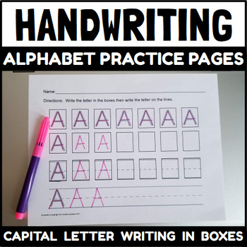 alphabet writing pages for capital letters by the connett connection