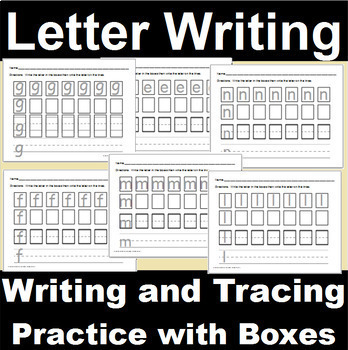 Alphabet Writing Pages for Captial and Lowercase Letters Bundle