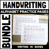 Handwriting Pages for Capital and Lowercase Letters with Boxes