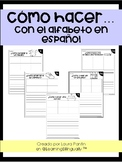 Alphabet Writing Pages in Spanish