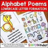 Alphabet Poems - Lower Case Letter Writing Poems