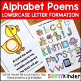 Alphabet Poems - Lower Case Letter Writing Poems