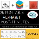 Post-It Notes ALPHABET WRITING K-2 - Beginning Sound Practice