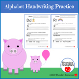 Hand Writing Practice Distance Learning Packet