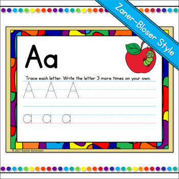 Alphabet Writing Practice Powerpoint Game