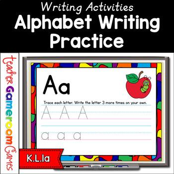 Alphabet Writing Practice Powerpoint Game