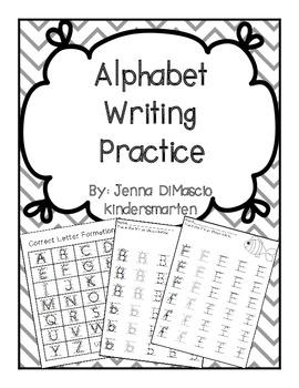 Alphabet Writing Practice Packet