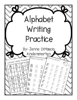 Alphabet Writing Practice Packet