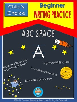 Child's Choice Writing Practice:  ABC SPACE- Beginner
