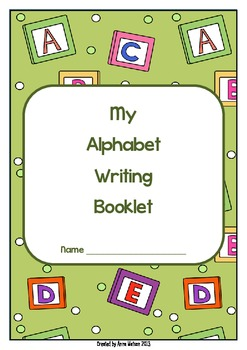 Alphabet Writing Practice Sheets - Folder