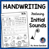 Kindergarten Handwriting Practice with Letter Identification & Beginning Sounds!