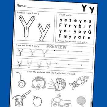 Kindergarten Handwriting Practice with Letter Identification & Beginning Sounds!